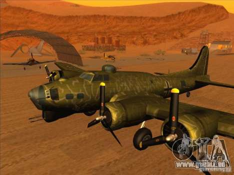 B-17 g Flying Fortress (Nightfighter Version) für GTA San Andreas zurück linke Ansicht
