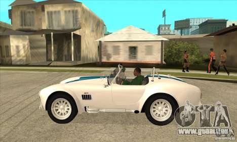 AC Shelby Cobra 427 1965 pour GTA San Andreas laissé vue