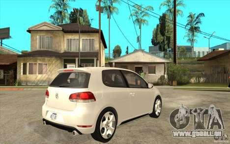 VW Golf 6 GTI pour GTA San Andreas vue de droite