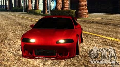 Mitsubishi Eclipse 1998 für GTA San Andreas Rückansicht