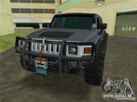 Hummer H3 SUV FBI für GTA Vice City zurück linke Ansicht