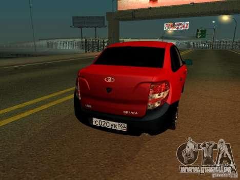 Lada 2170 pour GTA San Andreas vue de droite