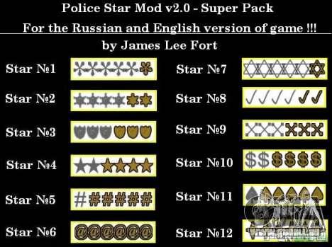 Neue Sterne für die Kapuze # 7 für GTA San Andreas