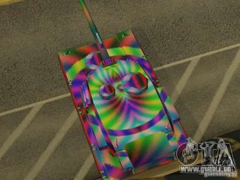 Eine fröhliche Farbe-tank für GTA San Andreas rechten Ansicht