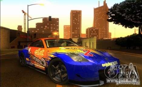 Nissan 350Z für GTA San Andreas zurück linke Ansicht