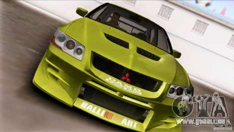 Mitsubishi Lancer Evo VII 2F2F für GTA San Andreas Rückansicht