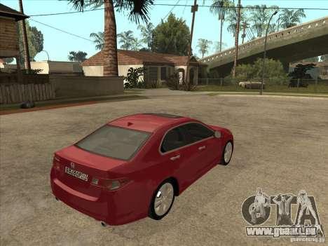 Honda Accord 2010 für GTA San Andreas rechten Ansicht