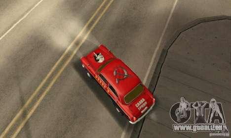 Moskvitch 407 1958 pour GTA San Andreas vue de dessus
