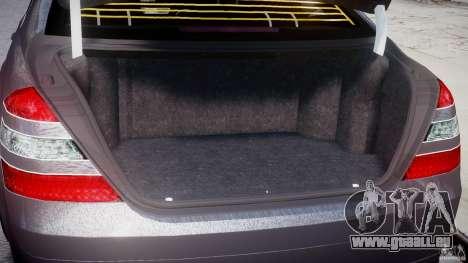Mercedes-Benz S-Class W221 BRABUS SV12 für GTA 4 Innenansicht