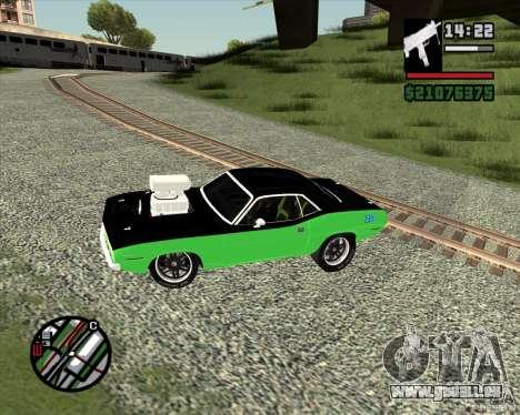 Plymouth Hemi Cuda 440 pour GTA San Andreas vue arrière