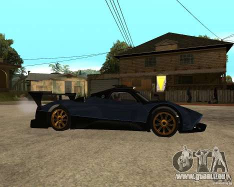 Pagani Zonda R pour GTA San Andreas vue de droite