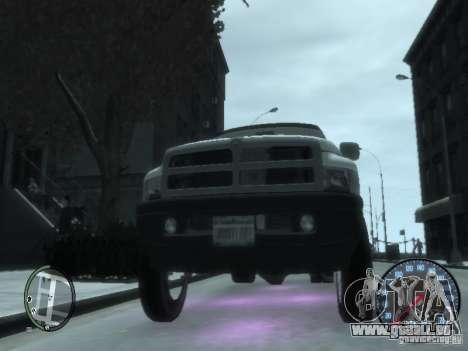 Dodge Ram 3500 pour GTA 4 est une vue de l'intérieur
