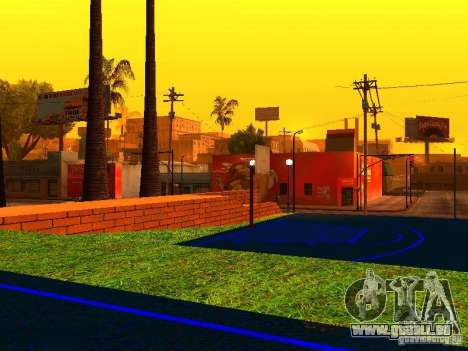 Basketballplatz für GTA San Andreas her Screenshot