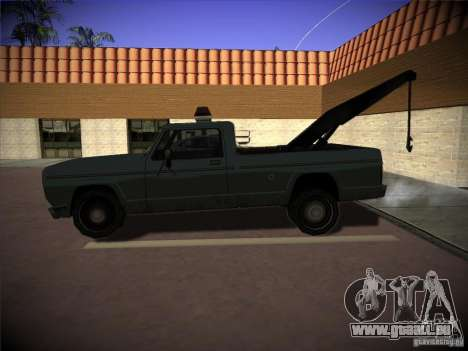 Camion de remorquage Sadler pour GTA San Andreas laissé vue