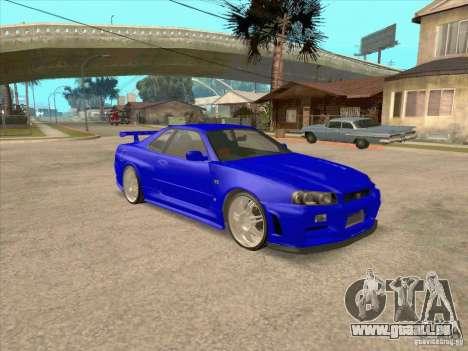 Nissan Skyline GT-R R34 from FnF 4 v.2.0 pour GTA San Andreas