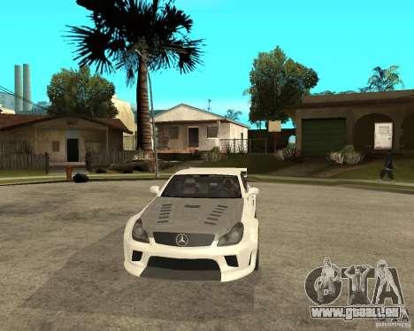 MERCEDES CLS 63 AMG TUNING pour GTA San Andreas vue arrière