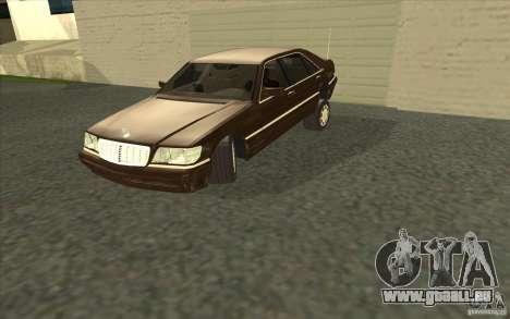 Mercedes-Benz S600 pour GTA San Andreas vue de côté