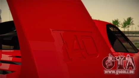 Ferrari F40 1987 pour GTA San Andreas moteur