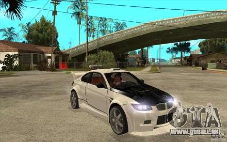BMW M3 e92 pour GTA San Andreas vue arrière