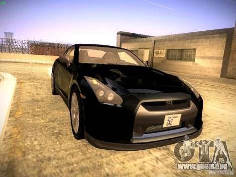 Nissan GT-R pour GTA San Andreas sur la vue arrière gauche