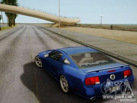 Ford Mustang Twin Turbo pour GTA San Andreas vue intérieure