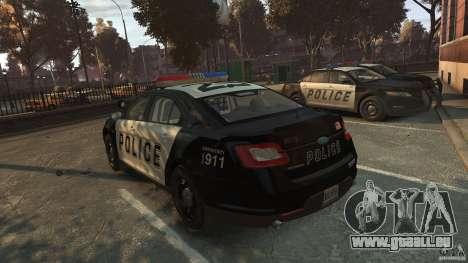 Ford Taurus Police Interceptor 2010 für GTA 4 hinten links Ansicht