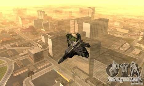 F-22 Raptor Graffity Skin 2 für GTA San Andreas linke Ansicht