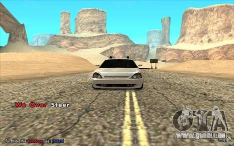Lada Priora Final Tuning pour GTA San Andreas sur la vue arrière gauche