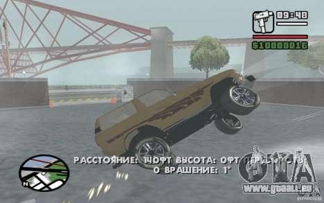 Toyota Land Cruiser 70 pour GTA San Andreas sur la vue arrière gauche