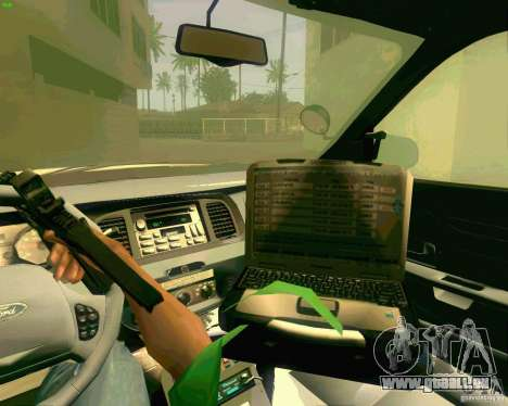 Ford Crown Victoria 2003 NYPD police pour GTA San Andreas vue de dessus