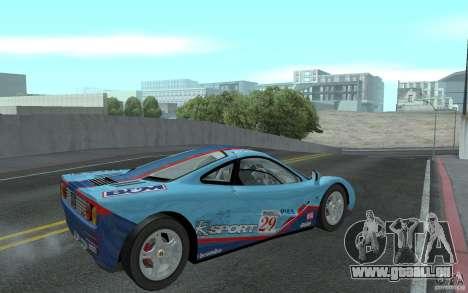 Mclaren F1 road version 1997 (v1.0.0) pour GTA San Andreas vue de droite