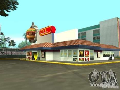 Mc Donalds für GTA San Andreas siebten Screenshot