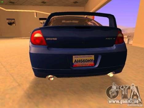Dodge Neon SRT4 2006 pour GTA San Andreas sur la vue arrière gauche