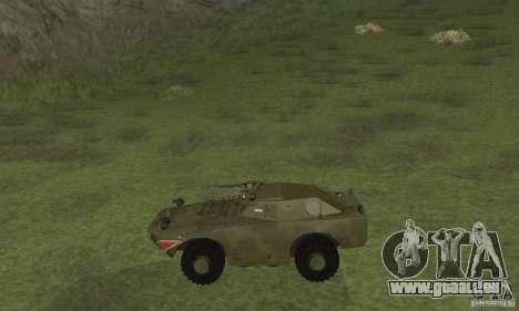 BRDM-1 peau 4 pour GTA San Andreas sur la vue arrière gauche