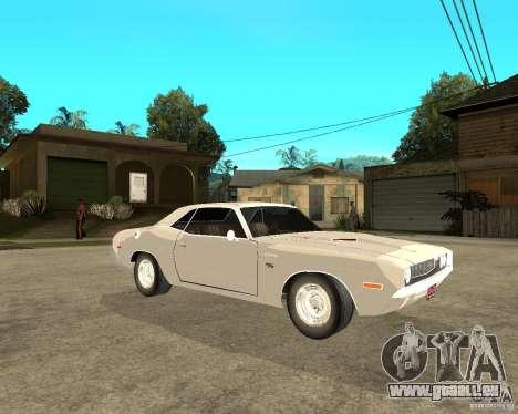 Dodge Challenger R/T Hemi 70 pour GTA San Andreas vue de droite