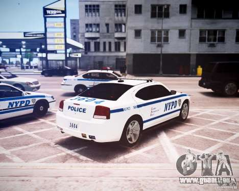 Dodge Charger 2010 NYPD ELS für GTA 4 Rückansicht