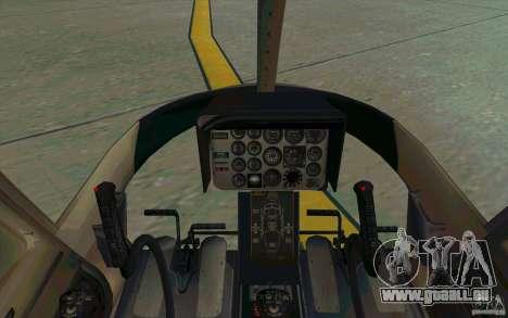 Bell 206 B Police texture4 für GTA San Andreas Rückansicht