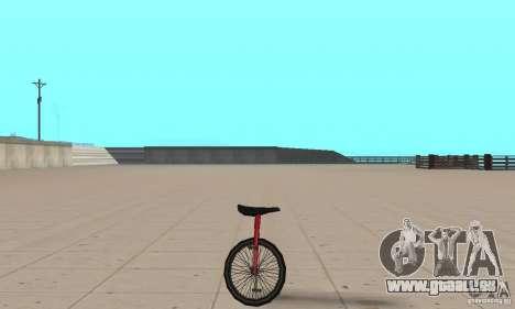 Unicycle für GTA San Andreas zurück linke Ansicht
