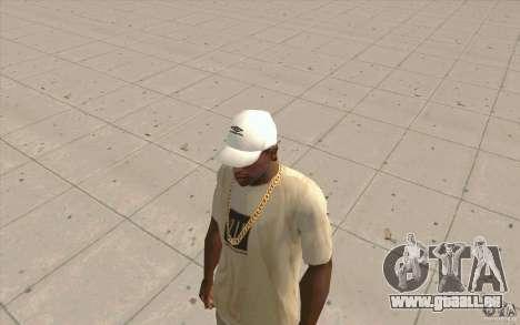 Umbro Cap white pour GTA San Andreas