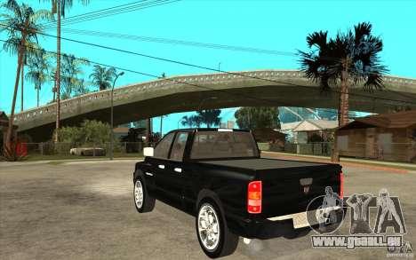 Dodge Ram 2500 2008 für GTA San Andreas zurück linke Ansicht