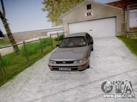 Toyota Corolla für GTA San Andreas Rückansicht