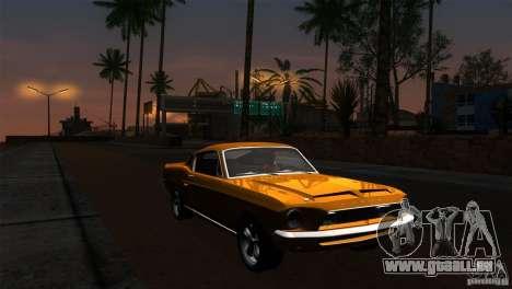 Shelby GT500KR pour GTA San Andreas vue de dessous