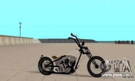 Chopper Shovel HD v2.1-mat pour GTA San Andreas sur la vue arrière gauche