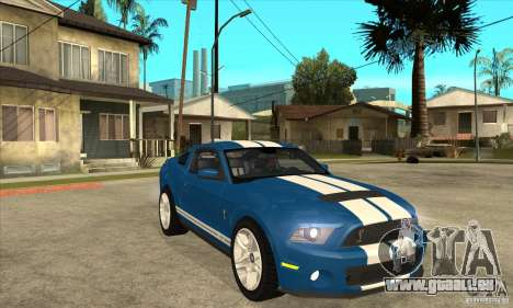 Ford Mustang Shelby GT500 2011 pour GTA San Andreas vue intérieure
