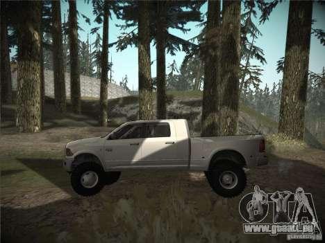 Dodge Ram 3500 4X4 pour GTA San Andreas laissé vue
