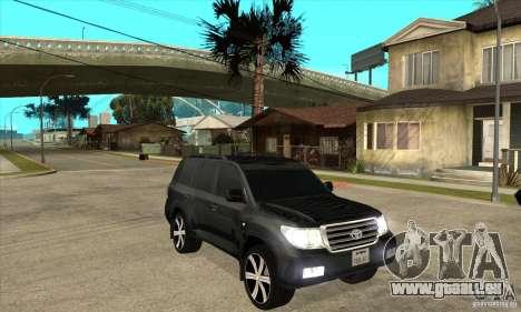 Toyota Land Cruiser 200 pour GTA San Andreas vue arrière