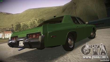 Dodge Monaco pour GTA San Andreas vue intérieure