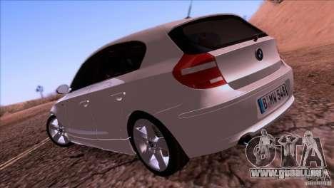 BMW 120i 2009 für GTA San Andreas rechten Ansicht