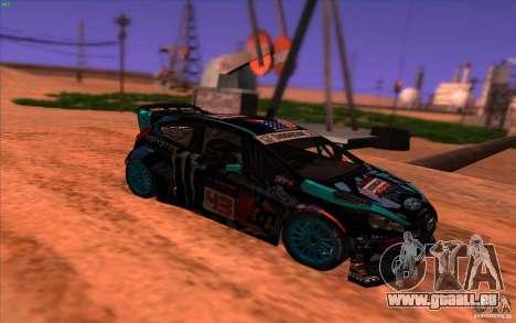 Ford Fiesta H.F.H.V. Ken Block 2013 pour GTA San Andreas vue de droite