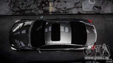 Infiniti G37 Sport 2008 JDM Tune (Beta) pour GTA 4 vue de dessus